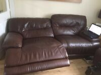 Leather electric recliners 3 seater snd 2 seater in vgc Reids
