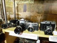 Cameras -ALL TYPES- 35MM, 120, 1/4 PLATE, SLR, FOLDING, RANGEFINDER, BOX + Binoculars