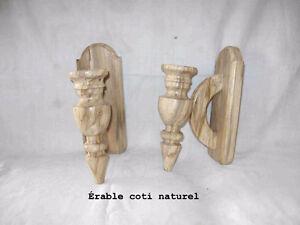 Chandeliers muraux en bois