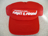 Vancouver Sight & Sound 80's Foam & Mesh Red Baseball Hat