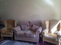 2 seater sofa & 2 chairs for sale