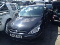 04 PEUGEOT 307 S 3 DOOR HATCH 1.4 PETROL ENGINE KFU - BLACK BREAKING SPARES PARTS