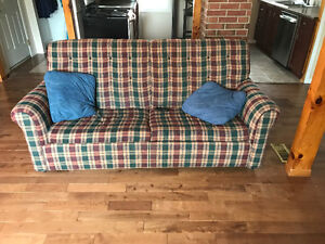 Furniture, couch, table, chairs and desk