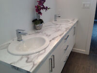 Brand New Bathroom Countertop with Double Sinks