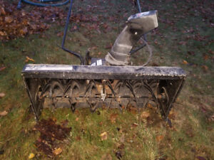 """MTD 42"""" Two stage snow blower attachment."""