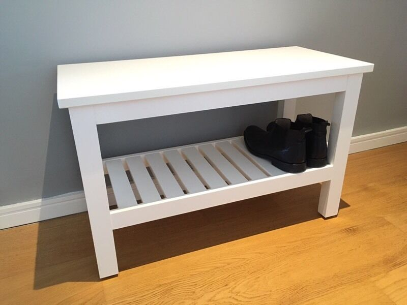 Ikea Hemnes Bench Shoe Rack In White In Bedminster