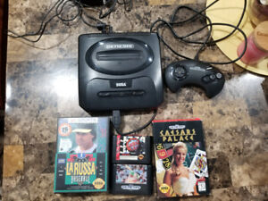 Sega Genesis with 4 games and controller