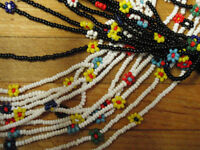 Vintage 50 inch Necklaces of black seed beads
