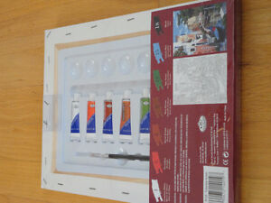 NEW paint by Numbers canvas acrylic paints mixing tray brush Set London Ontario image 3