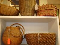 NATIVE INDIAN FIRST NATIONS BASKETRY ANTIQUE BASKET, VARIOUS