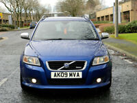 2009 09 Volvo V50 2.4 D5 R-Design Sport Geartronic 5dr WITH FSH+SUNROOF+LEATHER