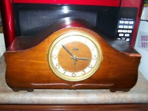 An Old Wood Mantle Clock Converted to Battery Working Chimes