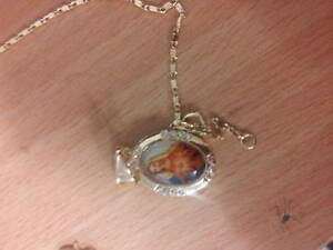 HOLY MARIA GOLD PLATED CHAIN AND PENDANT Ferryden Park Port Adelaide Area Preview