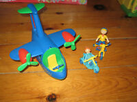 Caillou doll airplane Rosie bikes