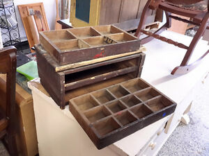ANTIQUE  ORGANIZER  BOX FROM THE 1800'S $45.00