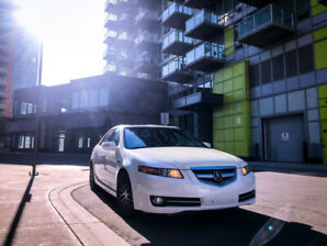 2008 White Acura TL for Sale, Low Kms