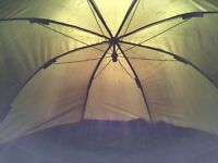 "Trakker 60"" oval brolly great condition used under 10 times rrp £129.99"