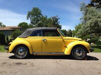 1974 Volkswagen Vw Beetle Bug Convertible with Air Conditioning!