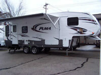 28 Ft 5th Wheel and hitch 2013 Puma