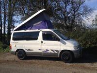 Diesel Mazda bongo white campervan full montage rear convertible 4 berth