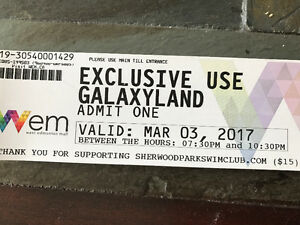 Wem Galaxyland tickets for sale $15 each