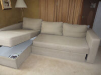 Manstad Ikea Sectional sofa bed with chaise