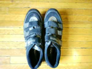 Shimano road bike shoes and pedals