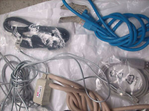 Assorted cables, Wires & Adapters