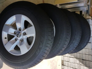 All seasons tire (M+S) mounted on alloy wheels for sale