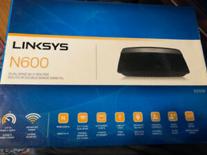 LINKSYS N600 Dual Band Wifi Router E2500