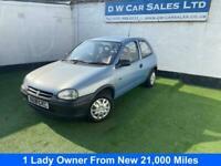1995 Vauxhall Corsa 1.2 3 Door Hatchback Petrol Manual Blue Future Classic