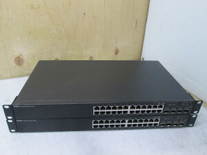Lot 2x Dell PowerConnect 5424 24-Port Gigabit Managed Switch w/
