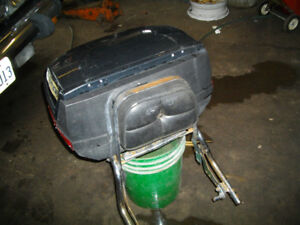 back carrier for motorcycle , with frame and back rest