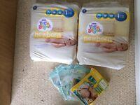 Newborn nappies, job lot