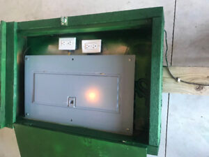 Temporary Outside Electrical Panel