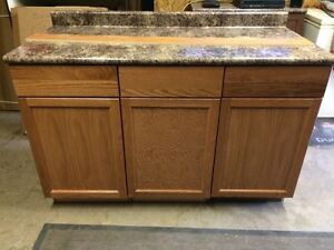 "54"" base cabinets with countertop"