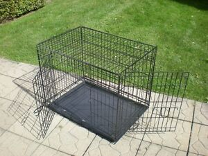 Life Stages Double Door Folding Dog Crate / Cage