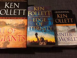 3 books by Ken Follett