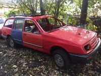 FORD SIERRA ESTATE ROLLING SHELL WITH V5