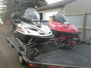 FAMILY SLED PKG 2- YAMAHA 700'S w TRAILER EXC COND $6500
