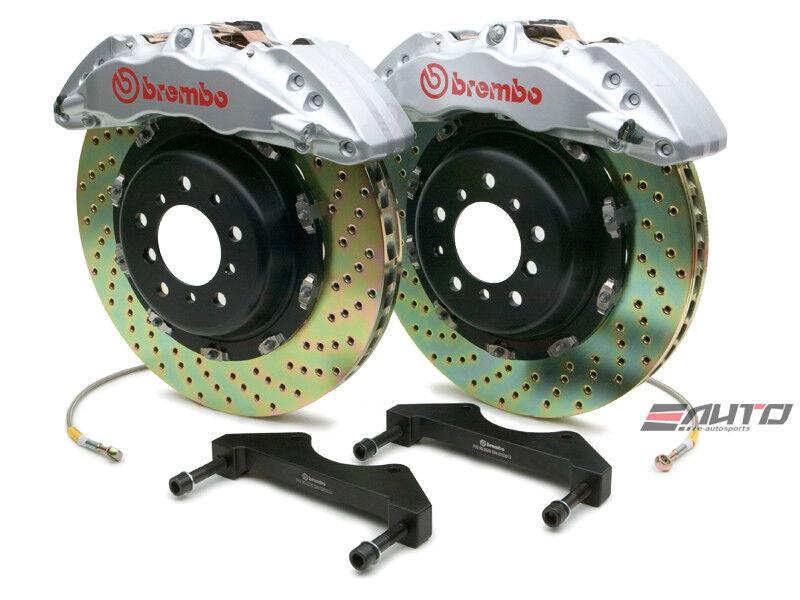 Brembo Front Gt Bbk Big Brake 6pot Caliper Silver 380x34 Drill Disc Tundra 07-13