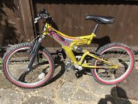 Children's bike for age 6+ with helmet for sale