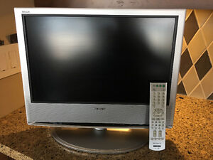 "Sony 17"" portable flat screen TV with remote"