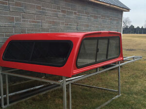 Red truck topper