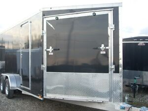 Three Place Snowmobile Enclosed Snowmobile Trailer