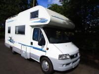 Adria Coral 630DH five berth motorhome with end kitchen and overcab bed