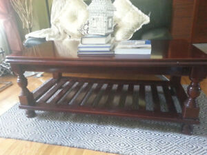 Ashley furniture coffee table and end tables