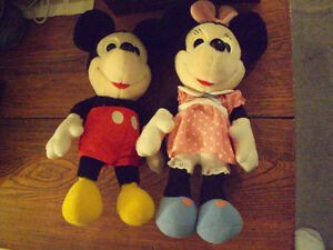 VINTAGE MICKEY AND MINNIE MOUSE 1983