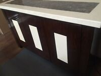 Marble high gloss sideboard