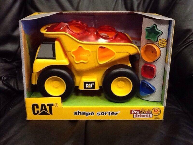 CAT- Shape sorter dump truck, New, Unopened